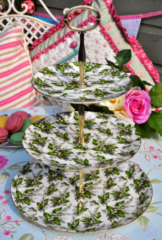 Chintz Lily of the Valley New Bone China 3 Tier Cake Stand