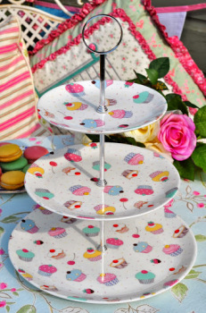 Chintz Cupcake New Bone China 3 Tier Cake Stand - SOLD OUT