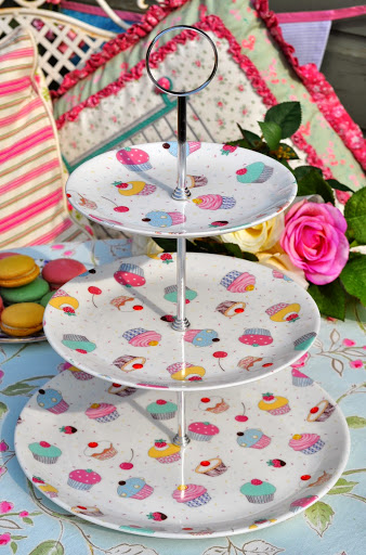Chintz Cupcake New Bone China 3 Tier Cake Stand