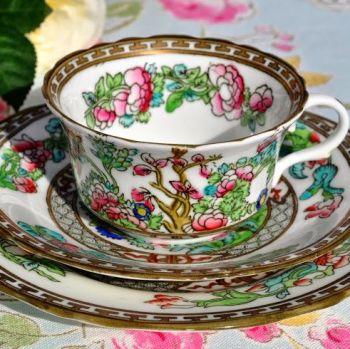 Coalport Antique Indian Tree Teacup, Saucer and Tea Plate Trio c.1891-1919