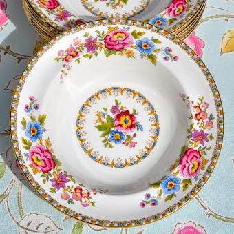 Royal Grafton Malvern Vintage Fine China Floral Soup Plate