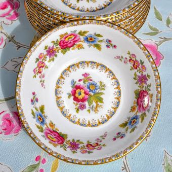 Royal Grafton Malvern Vintage Fine China Floral  Dishes