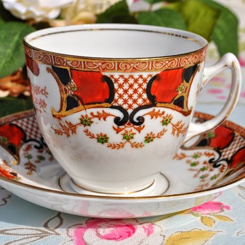 Stanley China Imari Style Teacup and Saucer c.1930+