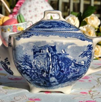 Johnson Bros. Blue and White Square New Earthenware 1.5 Pint Teapot
