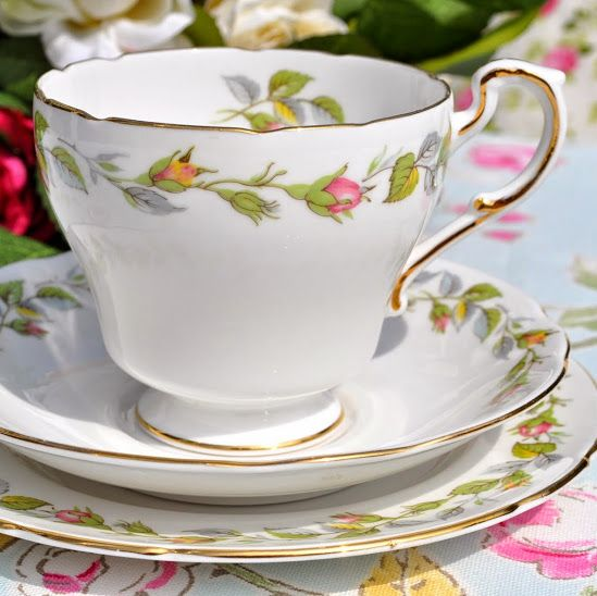 Royal Standard Nose Gay Rose Buds Vintage Fine Bone China Teacup Trio