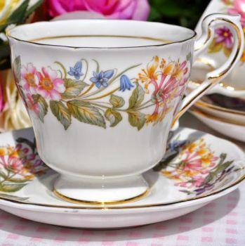 Paragon Country Lane English Fine Bone China Vintage Teacup and Saucer c.1957+