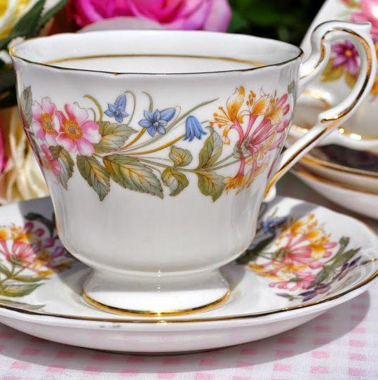 Paragon Country Lane English Fine Bone China Vintage Teacup and Saucer