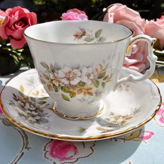 Royal Albert Haworth Vintage China Teacup and Saucer c.1982+