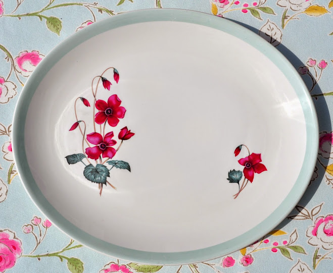 Burleigh Ware Retro 1960 S Serving Platter By Burgess And