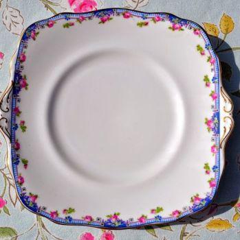 Paragon Antique Star Fine Bone China Square Cake Plate c.1913-19