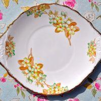 Royal Albert Crown China 1827 Green Blossom Cake Plate c.1927+