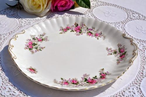 Royal Albert Lavender Rose Bone China Cake Plate c.1960's