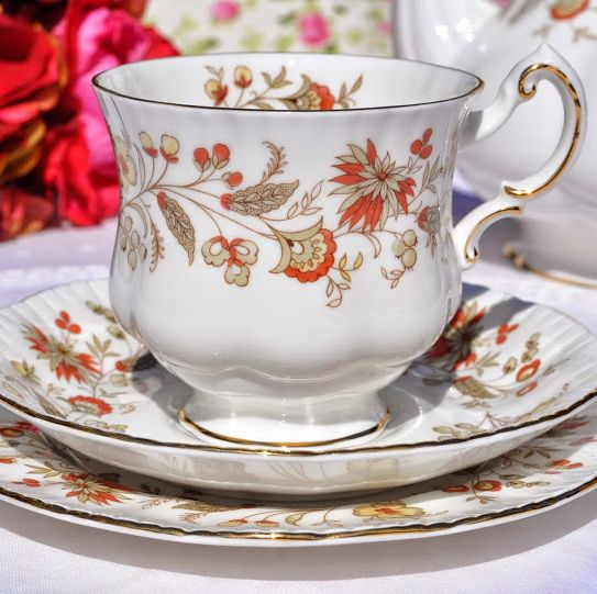 Paragon Seville Vintage Fine Bone China Teacup, Saucer and Tea Plate Trio
