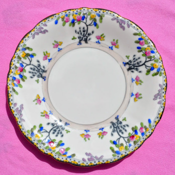 Royal Doulton Art Deco Hand Painted Cake Plate Pattern no. H.3758 c.1929