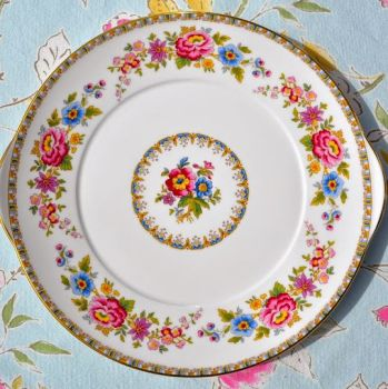Royal Grafton Malvern Vintage Fine China Floral Cake Plate c.1957+