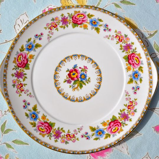 Royal Grafton Malvern Vintage Fine China Floral Cake Plate