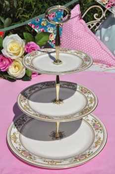 Royal Doulton Alton H.5055 English China 3 Tier Cake Stand c.1970's