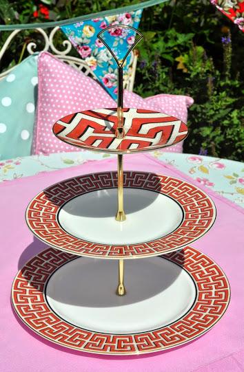 Wedgwood Dynasty Greek Key New 3 Tier Cake Stand