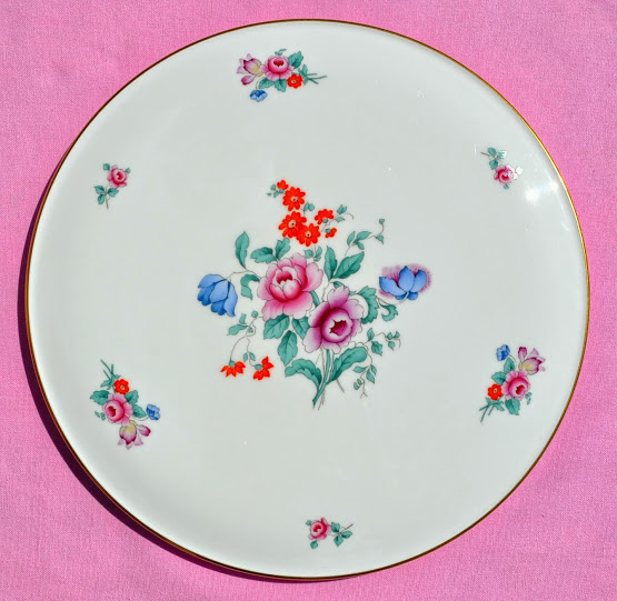 Spode Vintage Floral Bone China Gateau Celebration Cake Plate
