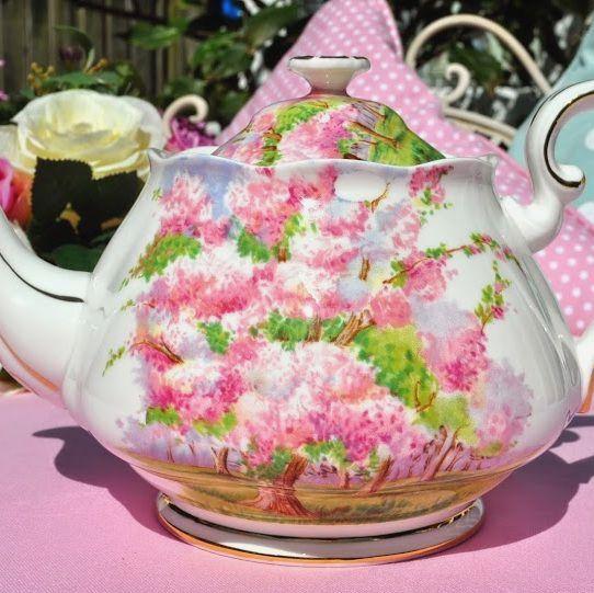 Royal Albert Blossom Time Vintage 1950s Bone China 2 Pint Teapot