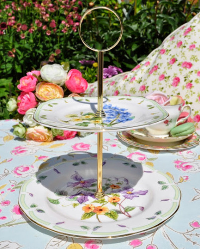 Royal Albert Botanical Teas Two-Tiered Cake Stand