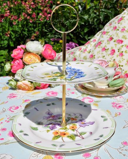 Royal Albert Botanical Teas Two-Tiered Cake Stand