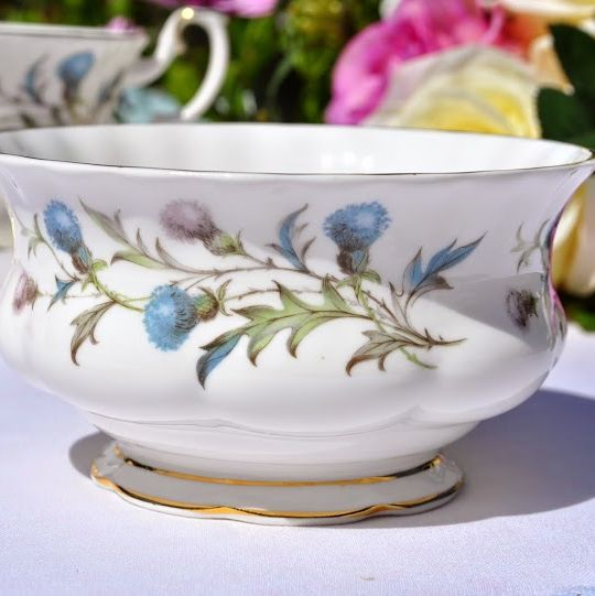 Royal Albert Brigadoon Vintage China Sugar Bowl c.1963+