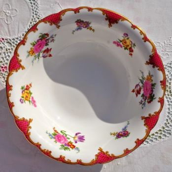 Aynsley Pink Floral English Bone China Large Serving Dish
