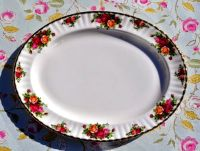 Royal Albert First Quality Old Country Roses Vintage Large Serving Platter c.1973-93
