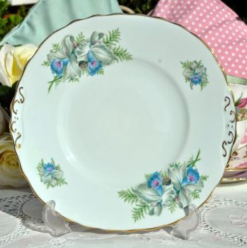 Colclough Blue Iris Vintage China Cake or Sandwich Plate