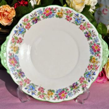 Roslyn Country Ramble Vintage China Cake Plate c.1940