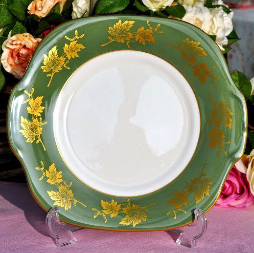 Crown Staffordshire Tangiers Vintage Bone China Cake Plate