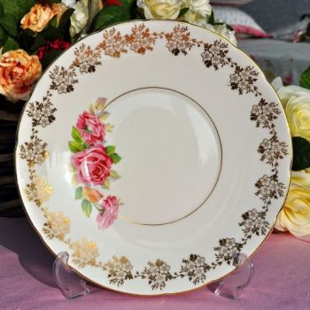 Old Royal Pink Rose Cake Plate c.1940's