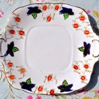 Victorian Era Imari Style Bone China Cake Plate c.1890's