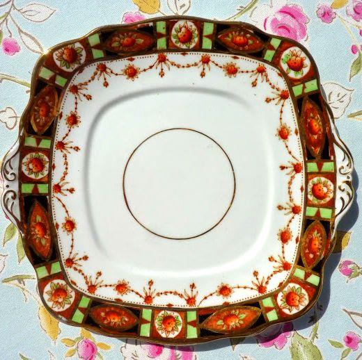 Roslyn Imari Style Vintage China Cake Plate c.1924+