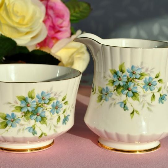 Royal Stafford Coquette Vintage Bone China Milk Jug and Sugar Bowl