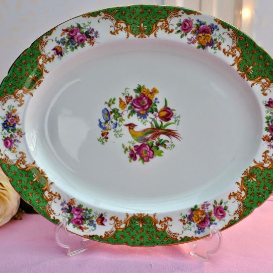 Paragon Rockingham Green Vintage Fine Bone China Serving Platter