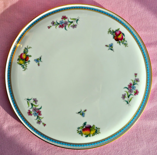 Spode Trapnell Sprays Y8403-T Vintage Floral China Gateau Celebration Cake Plate & Vintage Spode Trapnell Sprays Floral China Celebration Cake Plate