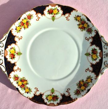 Royal Standard Floral Imari Vintage Cake Plate c.1940s