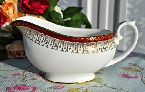 Royal Grafton Majestic Red and Gold Sauce Boat c.1950's