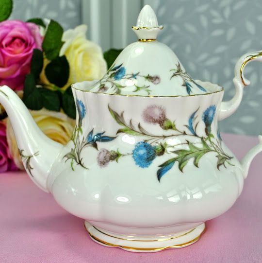Royal Albert Brigadoon Vintage China 1.25 Pint Teapot