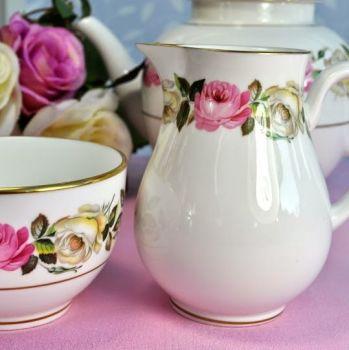 Royal Worcester Royal Garden Elgar Bone China Milk Jug and Sugar Bowl