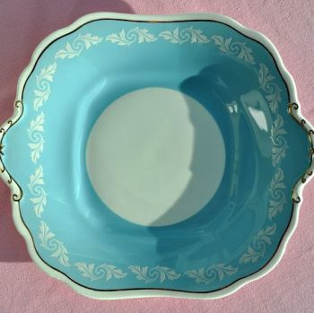Aynsley 'Wedgwood Blue' and White Vintage Cake Plate