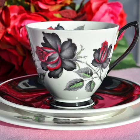 Royal Albert Masquerade Bone China Vintage Teacup, Saucer and Tea Plate Tri