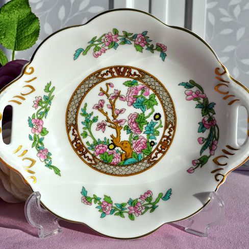 Coalport The Indian Tree Bone China Handled Biscuit Tray