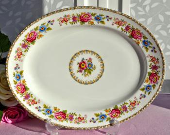 Royal Grafton Malvern Vintage Fine China Floral Serving Buffet Platter