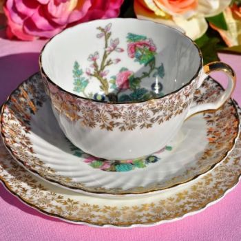 Antique Imperial China Indian Tree Pattern Teacup Trio