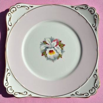Royal Stafford White Lady Pink Vintage Cake Plate c.1952+