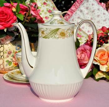 Duchess Greensleeves Vintage China 2 Pint Teapot or Coffee Pot