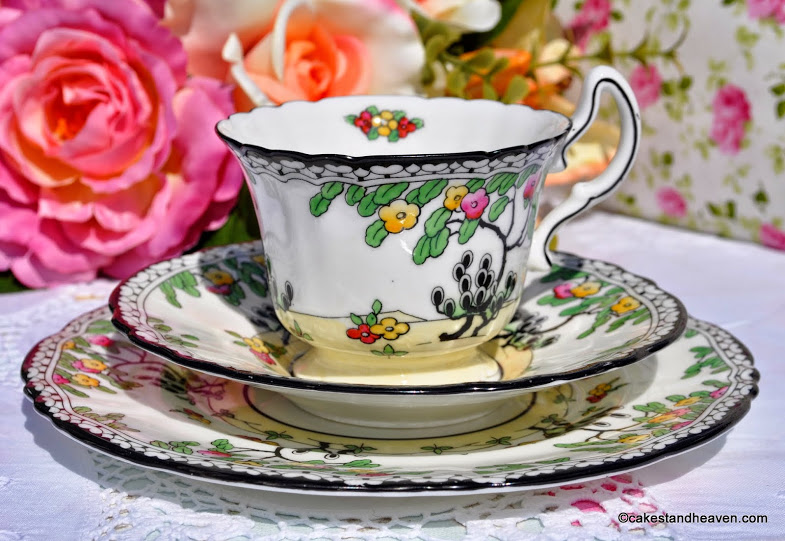 Royal Doulton Art Deco Teacup Saucer And Tea Plate C 1920s